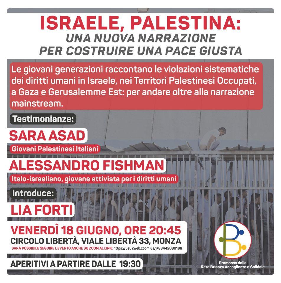 Israele, Palestina - Cisl Monza Brianza Lecco